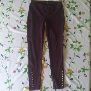 One5One maroon leggings